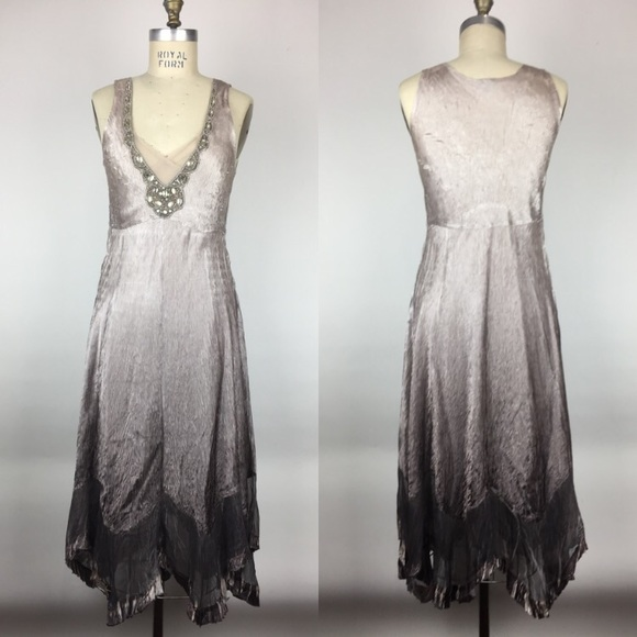 Komarov Dresses Embellished Empire Waist Ombre Dress Poshmark